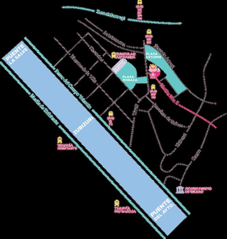 Mapa de ubicacion de Txokolate